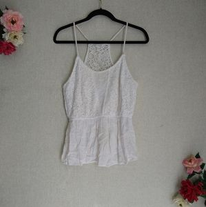 CLEARANCE Charming Charlie White Lace Camisole S